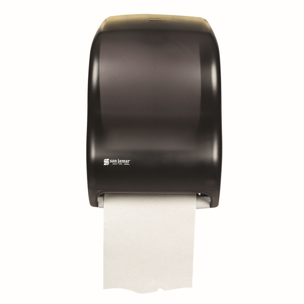 San Jamar T1300TBK Tear-N-Dry Classic Wall Towel Dispenser - Touchless, Black Pearl