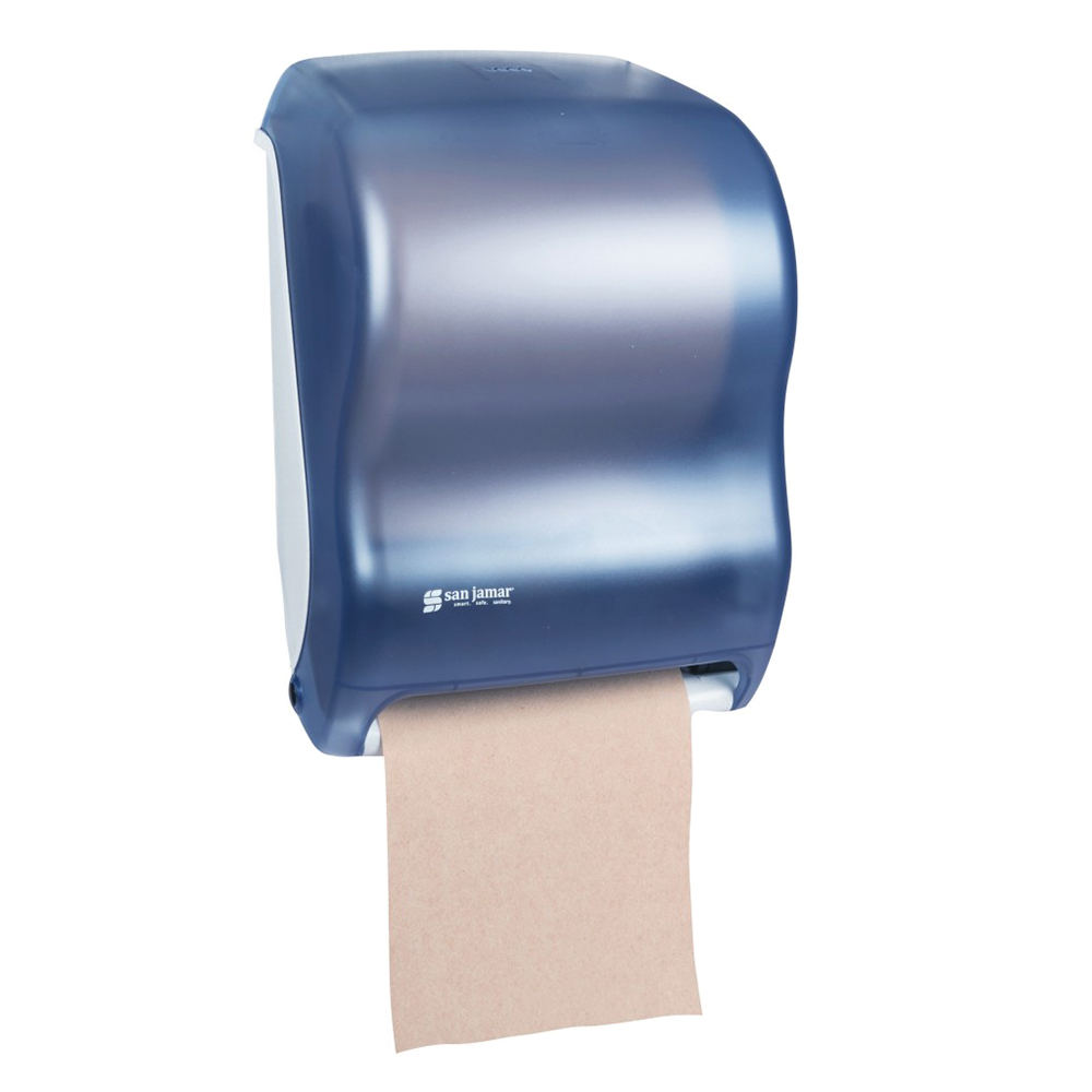 San Jamar T1300TBL Tear-N-Dry Classic Wall Towel Dispenser - Touchless, Arctic Blue
