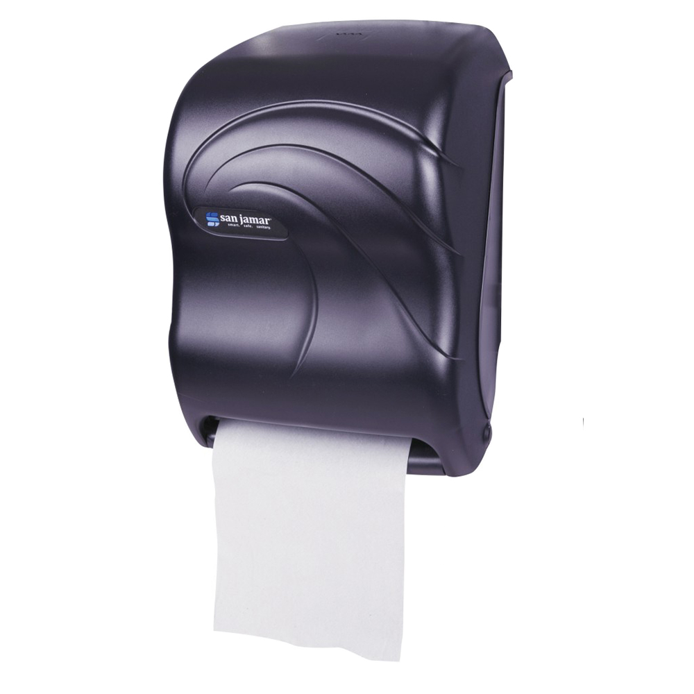 San Jamar T1390TBK Tear-N-Dry Oceans Towel Dispenser - Touchless, Black Pearl