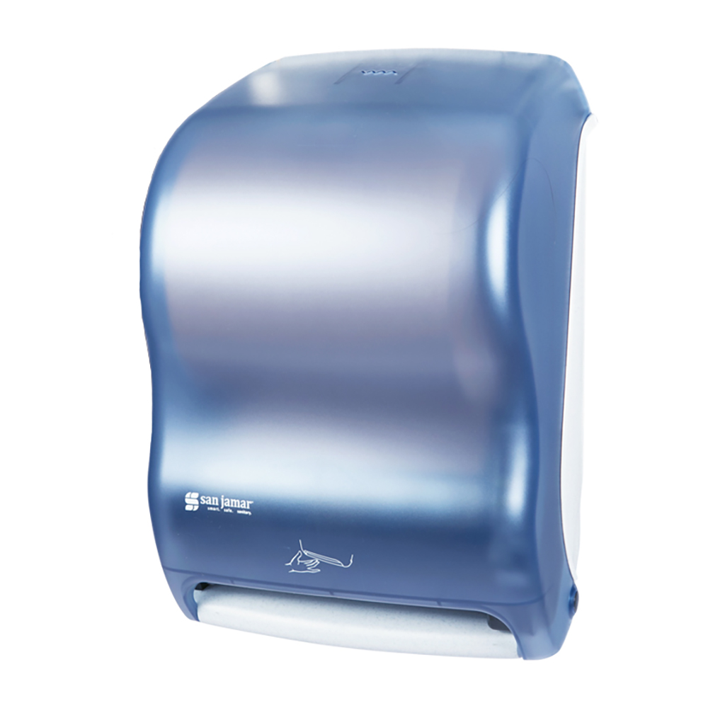 San Jamar T1400TBL Smart System Classic Wall Towel Dispenser - Touchless, Arctic Blue