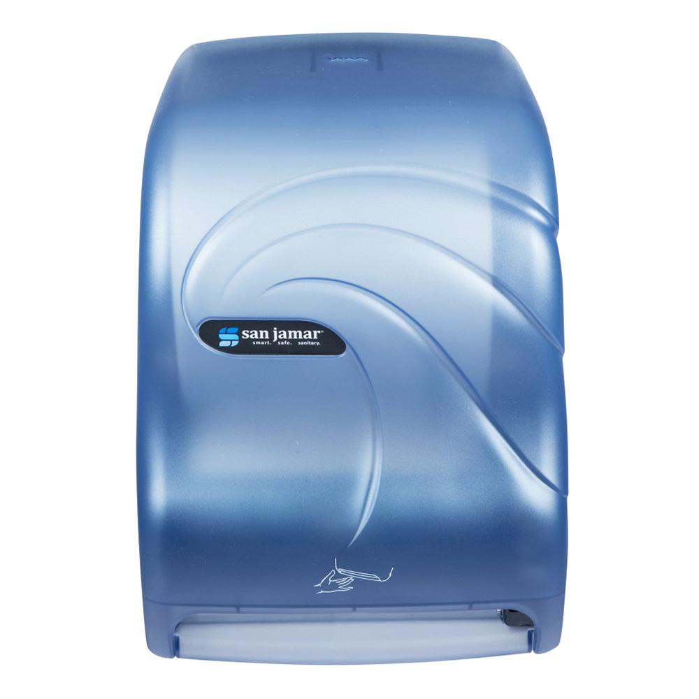 San Jamar T1490TBL Smart System Oceans Wall Towel Dispenser - Touchless, Arctic Blue