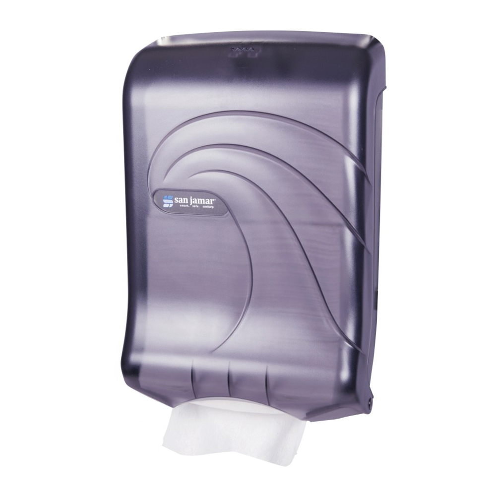 San Jamar T1790TBK Oceans Ultrafold Wall Paper Towel Dispenser - C-Fold or Multifold, Black Pearl