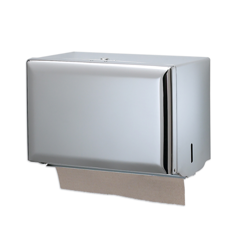 San Jamar T1800XC Classic Wall Towel Dispenser - Singlefold, Bright Chrome