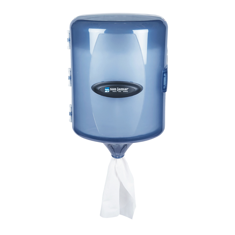 San Jamar T410TBL Wall Towel Dispenser - Adjustable Centerpull, Arctic Blue