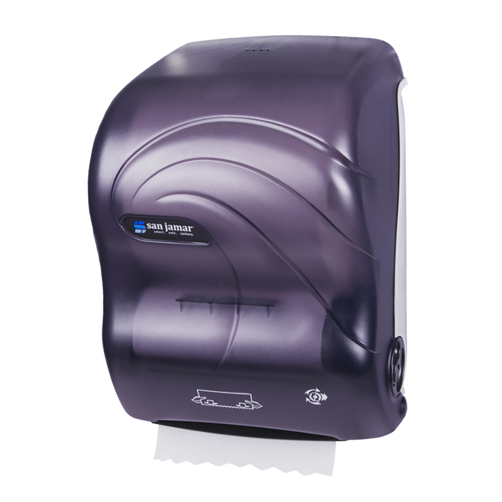 San Jamar T7090TBK Simplicity Hands Free Oceans Wall Towel Dispenser - Wide Roll, Black Pearl