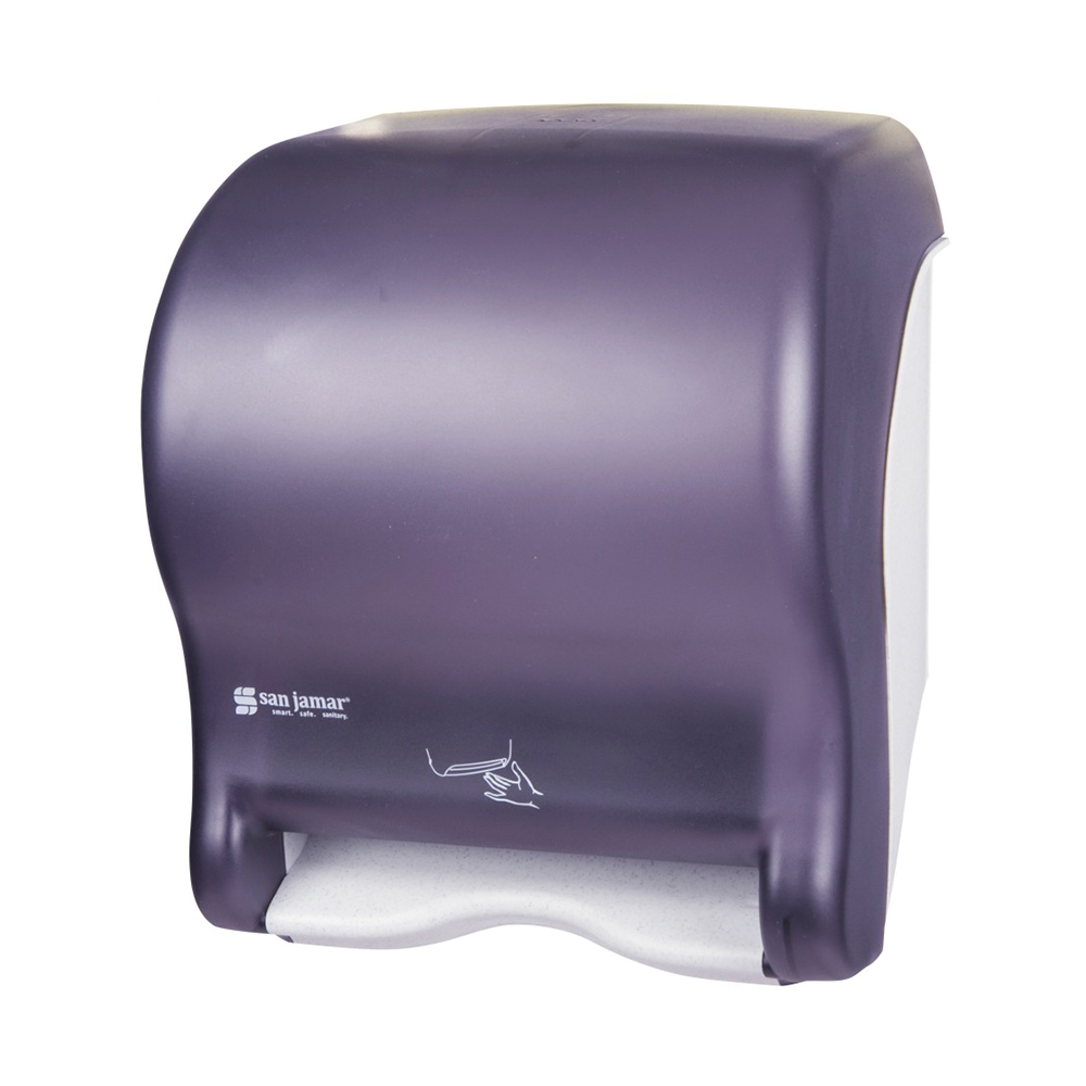 San Jamar T8400TBK Smart Essence Classic Wall Towel Dispenser - Touchless, Wide Roll, Black Pearl