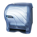San Jamar T8490TBL Compact Touchless Roll Towel Dispenser Adjustable Programming Oceans Black Pearl