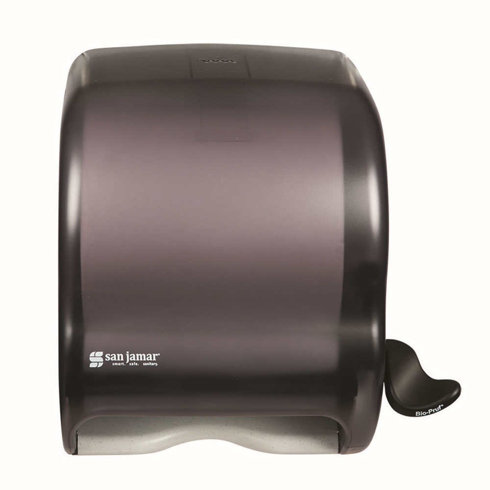 San Jamar T950TBK Classic Element Wall Towel Dispenser - Lever Action, Wide Roll, Black Pearl