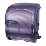 San Jamar T990TBK Oceans Element Wall Towel Dispenser - Lever Action, Wide Roll, Black Pearl