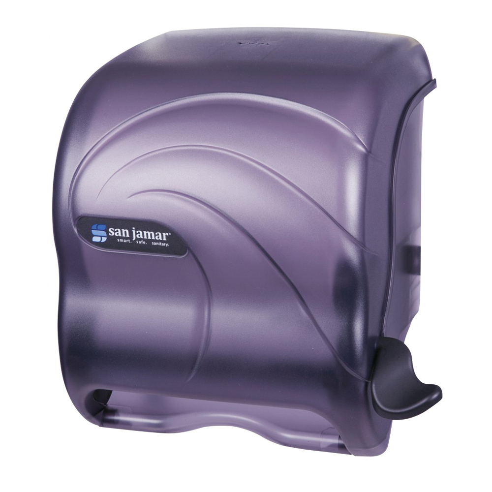 "San Jamar T990TBK Paper Towel Dispenser - Lever Roll, 13.25x11x9.5"", Translucent Black Pearl"