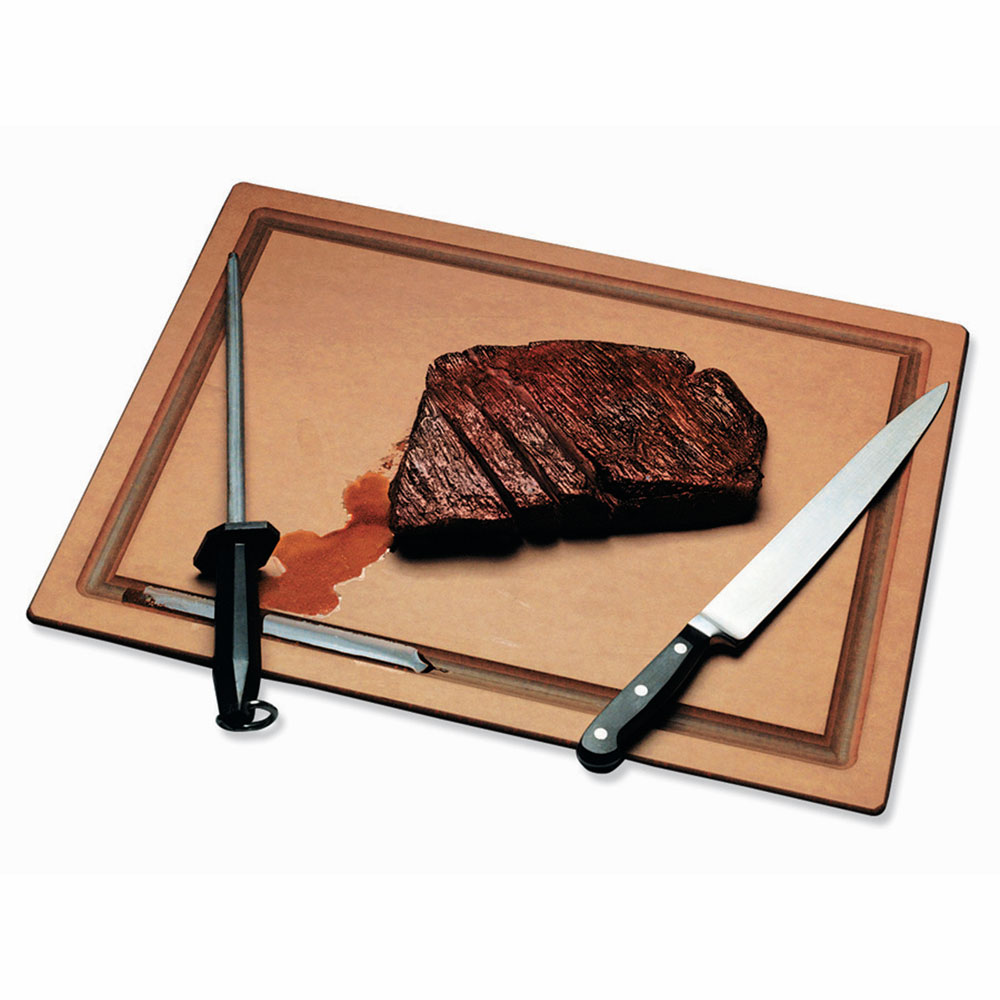 "San Jamar TC182412GV Tuff-Cut Resin Cutting Board, Grooved, 18"" X 24"" X 1/2 in, NSF"