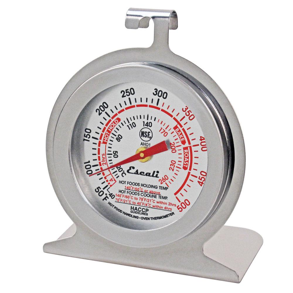 """San Jamar THDLOV Escali 2.38"""" Dial Oven Thermometer w/ 40° to 500°F Temperature Range"""