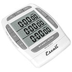 "San Jamar TMDGTE Escali 3-Event Digital Timer w/ Hour, Minute, & Second Timing - 3.25"" x 2.25"", White"