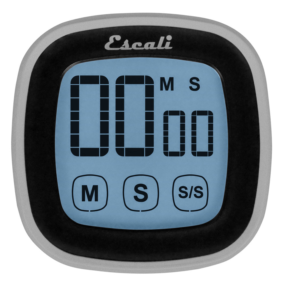 "San Jamar TMDGTS Escali Touch-Screen Digital Timer w/ Minute & Second Timing - 3"" x 3"", Black"