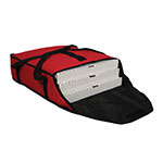 "San Jamar PB20-6 Pizza Bag, 20 x 18 x 6"", Holds 3 Pizza Boxes, Red"