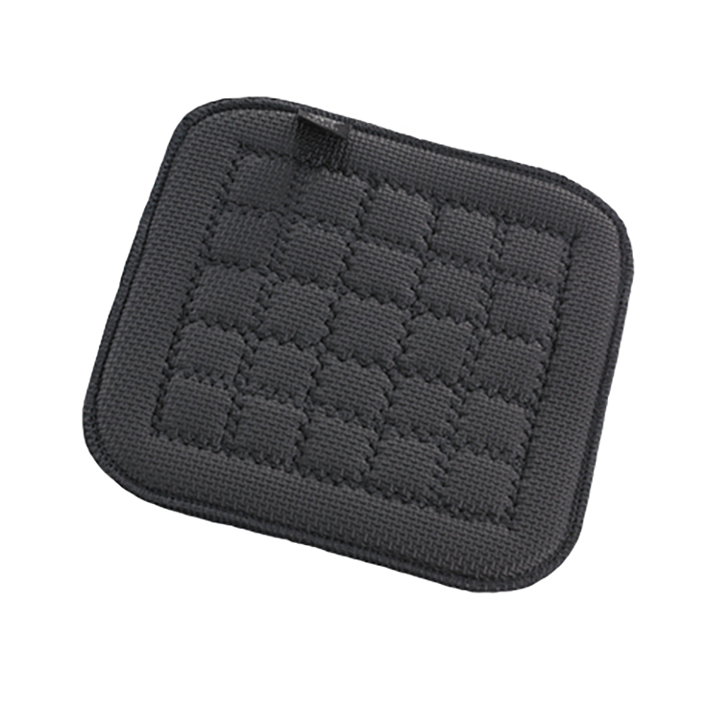 "San Jamar UHP77BK Flexible Hot Pad w/ Textured Material, Protects 500-F for 30-Sec, 7"" Sq, Black"