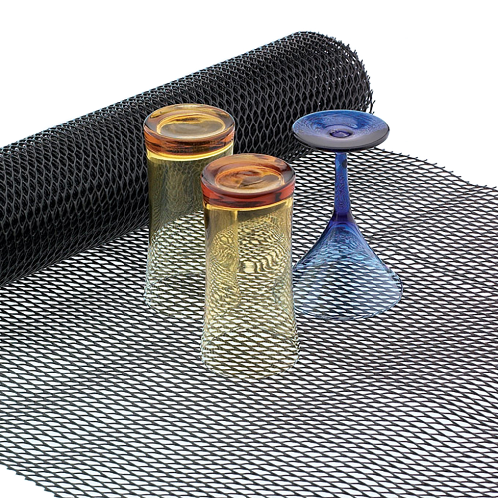 San Jamar UL5105 Ultra Liner Shelf Liner, 2 x 10 ft Roll, Black