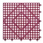 "San Jamar VM5280WN-12 Bar Mat Tile Shelf Liner - 12x12"", Grease Resistant, Interlocking, Rubber, Wine"