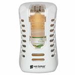"""San Jamar WP9070WHCL Arriba Twist Passive Dispenser w/ Battery-Free Fan - 4.63"""" x 2.88"""", White/Clear"""