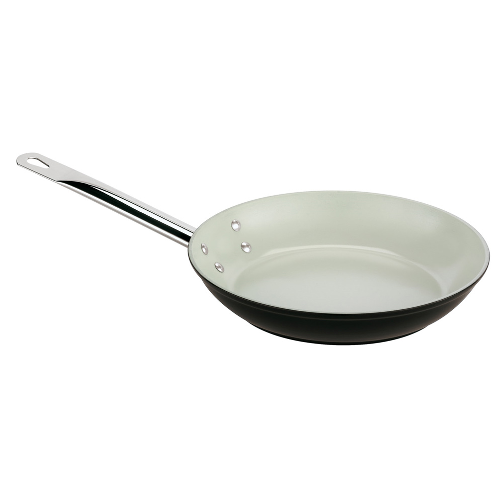 "World Cuisine 11618-24 9.5"" Ceramic-Coated Frying Pan w/ Solid Metal Handle"