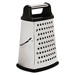 "World Cuisine 42569-04 9"" Grater w/ (4) Sides, Stainless Steel"
