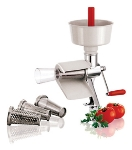 World Cuisine 42576-00 Manual Tomato Juicer, 19-5/8-in, Stainless Steel Body