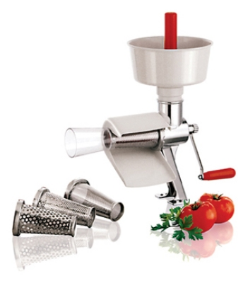 "World Cuisine 42576-00 Manual Tomato Juicer, 19-5/8"", Stainless Steel Body"