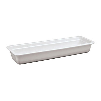 "World Cuisine 44334-06 Hotel Food Pan, 2/4-Size, 2.5"" Deep, Porcelain"