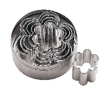 World Cuisine 47306-10 Flower Dough Cutters w/ Various Sizes, 6-Piece Set, Tin