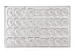 World Cuisine 47860-12 Chocolate Mold, 1.25 x 10-7/8-in, 4 x 9 Imprints, Polycarbonate