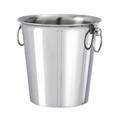 World Cuisine 56120-22 Wine Bucket, 1 Bottle, 7-7/8 x 9.25-in, Stainless Steel