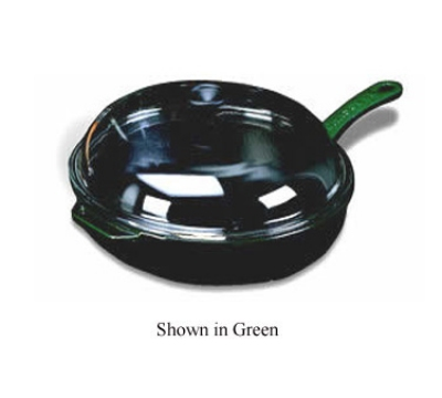 World Cuisine A1733029 Enameled Cast Iron Fry Pan w/ Handle & Glass Lid, 11-in, Red