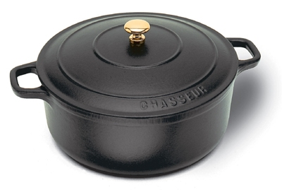 World Cuisine A1737016 1.75-qt Dutch Oven, Enameled Cast Iron w/ Lid & Bronze Knob, Black