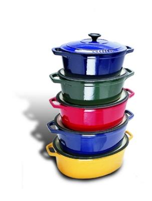 World Cuisine A1737127 Enameled Cast Iron Dutch Oven w/ Lid, 3.5-qt, Blue