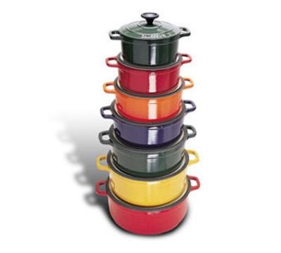 World Cuisine A1737322 3-qt Dutch Oven w/ Lid, Enameled Cast Iron,  Red