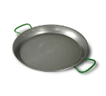 World Cuisine A4172490 Polished Carbon Steel Paella Pan w/ Dual Zinc Handles, 35.5-in