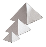 World Cuisine A4753509 Pyramid Pastry Mold, 3.5 x 3.5-in, Stainless Steel