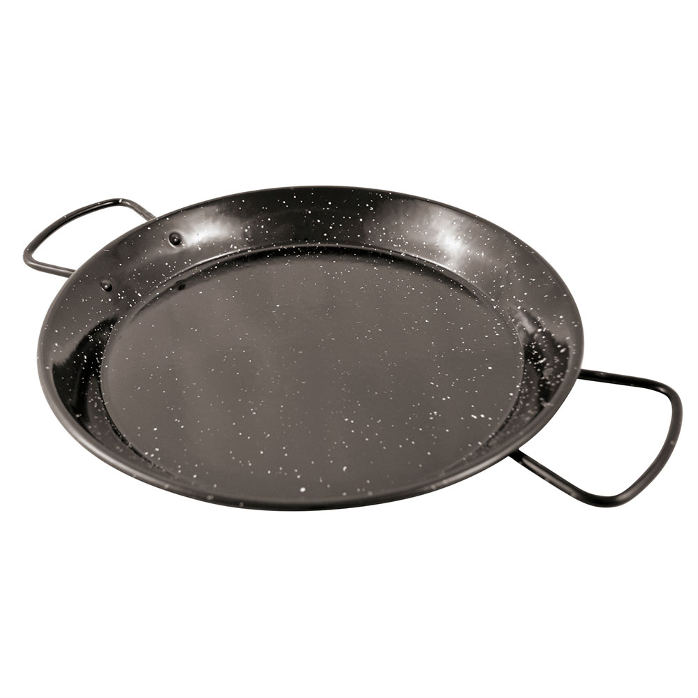 "World Cuisine A4982181 10.25"" Carbon Steel Paella Pan"
