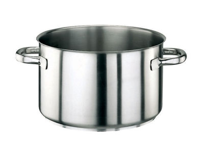 World Cuisine 11007-40 31.75-qt Saucepan - Induction Compatible, Stainless