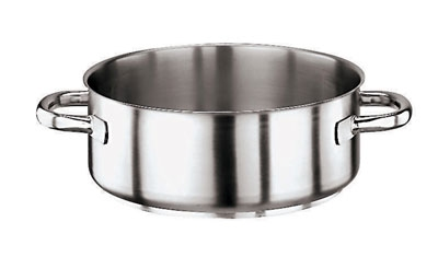 World Cuisine 11009-36 13.75-qt Rondeau Pot, Stainless Steel