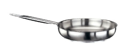 "World Cuisine 11014-28 11"" Stainless Steel Frying Pan w/ Hollow Metal Handle"