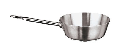 World Cuisine 11112-20 Saute Pan, 1-5/8-qt, Stainless, Splayed