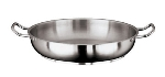 World Cuisine 11115-36 Paella Pan w/ Dual Handle, 14-1/8-in, Stainless