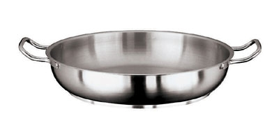 World Cuisine 11115-32 Paella Pan w/ Dual Handle, 12.5-in, Stainless