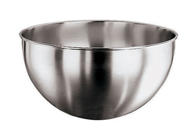 World Cuisine 11951-32 10-qt Round Bottom Mixing Bowl, Stainless