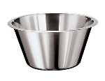 World Cuisine 12580-40 Mixing Bowl w/ Flat Bottom & Open Round Edge, 18-qt, Stainless