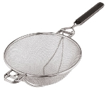 "World Cuisine 12635-35 Fine Mesh Strainer, 13.75"", Stainless Steel w/ ABS Handle"