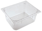 World Cuisine 14561-20 Hotel Pan, Double, 7-7/8-in Deep, Stackable, Poly, Clear
