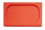 World Cuisine 14728-11 Hotel Pan Lid, 1/4-Size, Polypropylene, Red