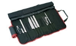 World Cuisine 18190-09 9-Piece Cutlery Set w/ Roll Bag